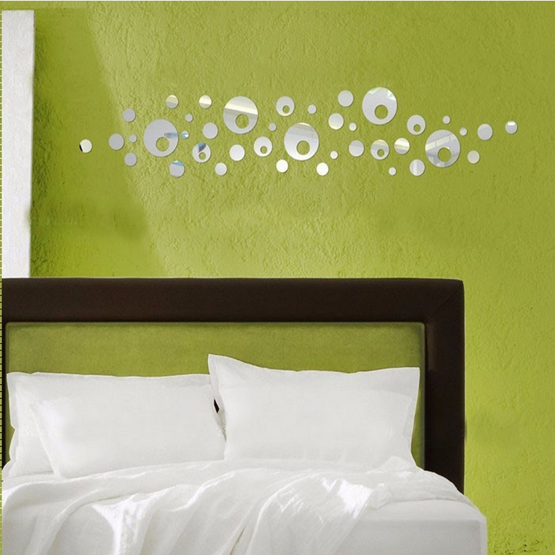 new hot sale diy 3d mirror acrylic wall stickers decorative large ...