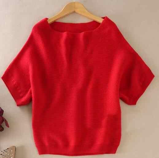 2019 가을 겨울 스웨터 여성 캐시미어 스웨터 느슨한 크기 batwing 셔츠 짧은 소매 니트 양모 스웨터 여성 풀 오버