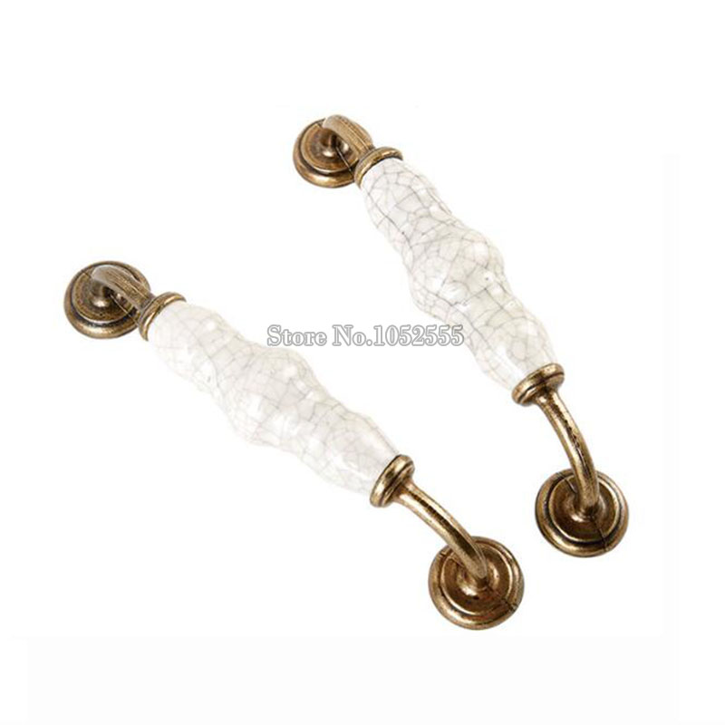10PCS 128mm Dresser Knobs Drawer Pulls Handles Ceramic Kitchen Cabinet Door Knobs Cupborad Wardrobe Furniture Knob Pull Handle furniture drawer handles wardrobe door handle and knobs cabinet kitchen hardware pull gold silver long hole spacing c c 96 224mm
