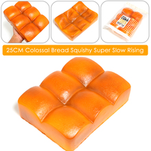 1PCS 25CM Colossal Bread Squishy Super Slow Rising Bakery Scented Original Package