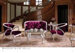 Классический роскошный диван стул белый фланель теперь Европейский стиль стул M039-1