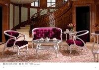Classic luxury sofa chair White flannel now European style chair M039 1