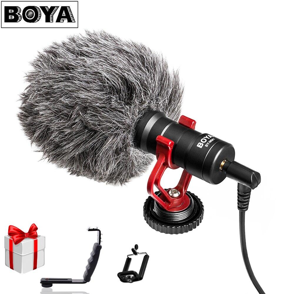 BOYA BY-MM1 DSLR MICRO Vidéo caméra Microphone Youtube Blogging Enregistrement Mic pour Canon Nikon Sony iPhone HuaWei Smartphone Osmo
