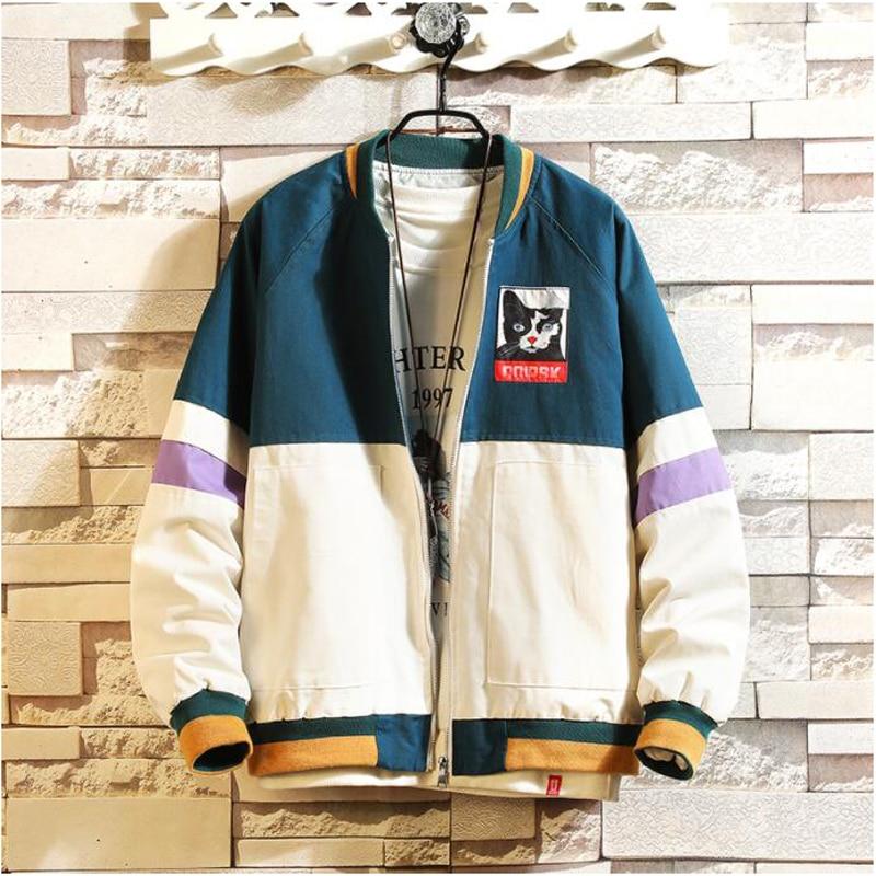 Brand Fashion Jacket Men 2019 Autumn Spring Patchwork Japan Style Clothing Plus ASIAN SIZE M-5XL
