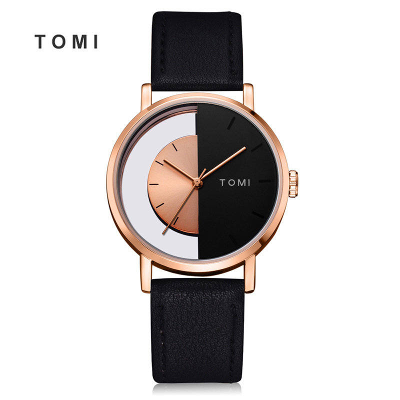 Tomi 2018 Men watch Luxury Brand Watches Quartz Man Clock Fashion Creative Simple Minimalist Leather wristwatch Women Watch 20 цена и фото