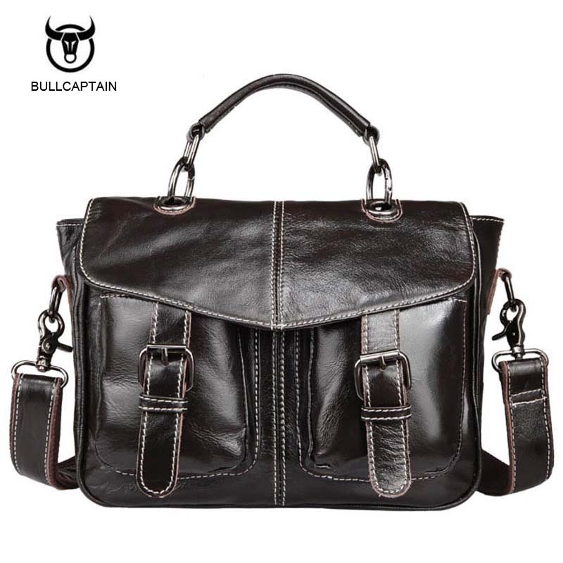 Bullcaptain Genuine Leather Bag Casual Men Handbags Cowhide Men Crossbody Bags Men's Travel Bags Tote Ipad Mini Briefcases Bag contact s genuine leather men bag casual handbags cowhide crossbody bags men s travel bags tote laptop briefcases men bag new