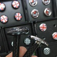 Nulla Углеродного Волокна Замок Автомобиля Изменение Дверь Pin Изменение Дверь Болт Для Mini Cooper Наклейки Автомобильные Аксессуары Для Укладки