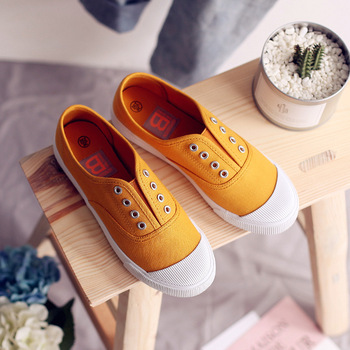 Women Canvas Shoes Elastic Band Lady Loafers Flat Heel Slipon All Match Girls White Shoes Sneakers Spring Autumn Tenis Femino 5