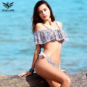 NAKIAEOI 2018 Sexy Bandeau Bikinis Women Swimsuit Push Up Swimwear Brazilian Bikini Set Beach Bathing Suit Swim Wear Biquini 3