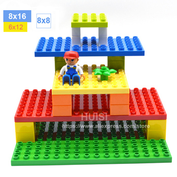 Baby Toys Large Plastic Bricks Parts Educational Building Blocks Compatible With Legoe Duplo DIY Toys For Children 3 4 Years Old 50pcs large particles numbers train building blocks bricks educational babycity toys compatible with duplo diy