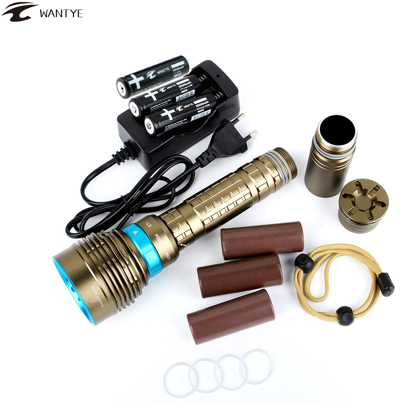 Underwater100M LED Diving Flashlight 26650 Or 18650 7*XML L2 U2 12000LM Waterproof Dive Light Tactical Flash light Lantern sitemap 7 xml