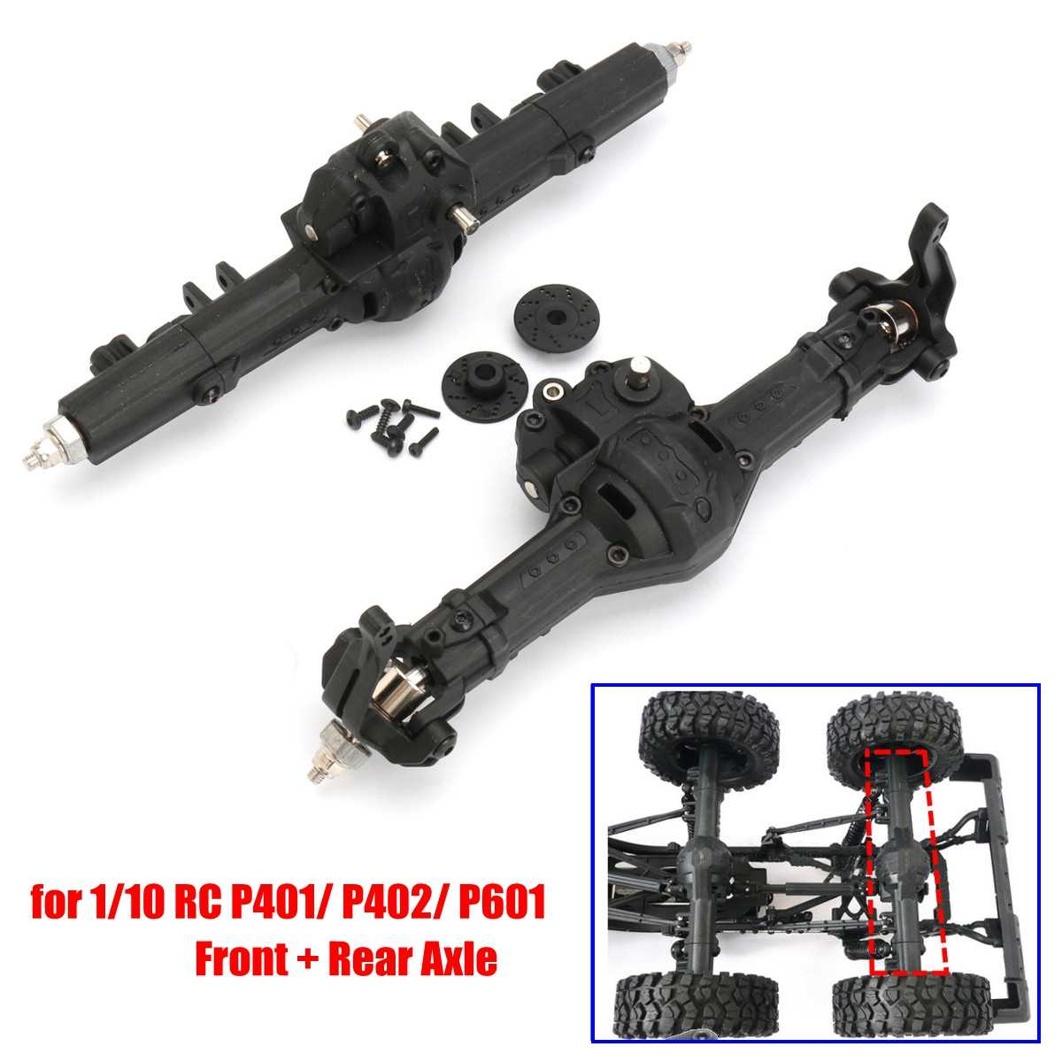 Voor En Achter Gear Box Set Voor 1/10 RC As HG P401/P402/P601 Crawler Truck Auto HG-BX02 1/10 HG RC Off Road Auto Onderdelen F + R As