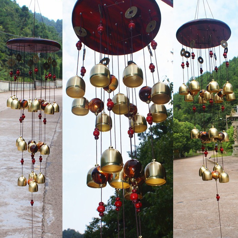 18 Bells Copper Wind Chimes Feng Shui Goods for Yard Garden Decoration Outdoor Windchimes Windbell Mascot Gifts