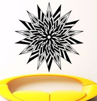 Mandala Wall Decal Vinyl Sticker Yoga Ganesh Buddha Namaste Bedroom Decor