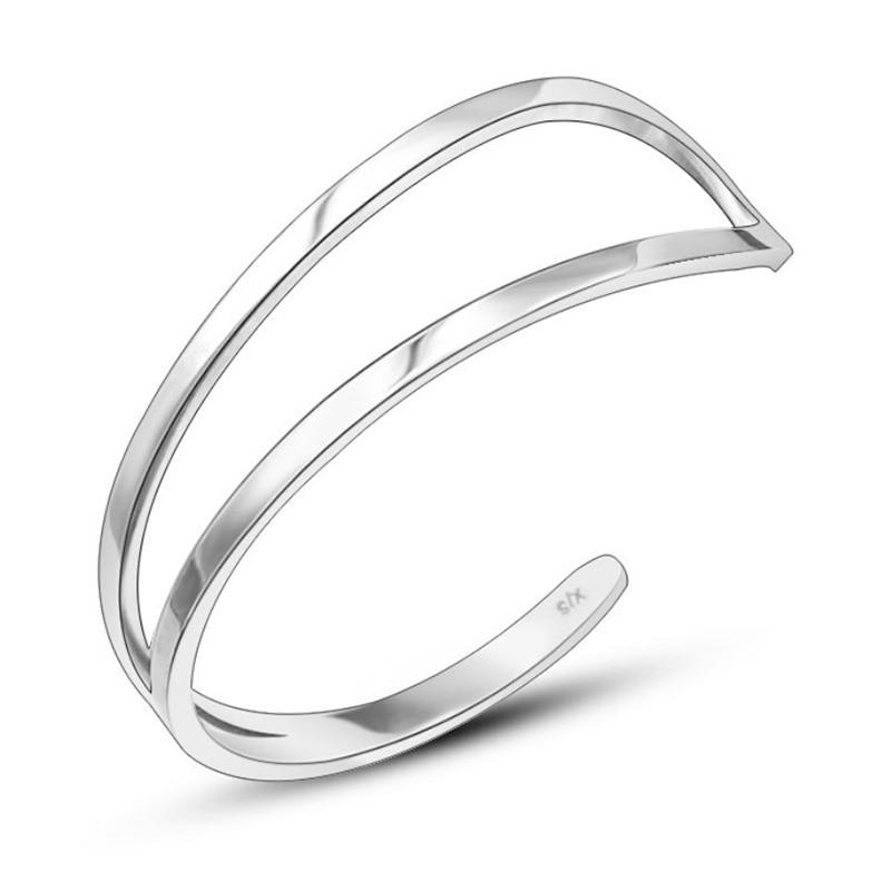 1Pc 925S Personalized Bracelet Initial Engraved Cuff Custom Bracelet & Bangle for Men Woman Jewelry Bangle