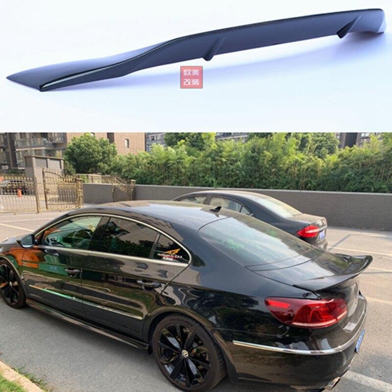 Ailes de lèvre de becquet de toit arrière en fibre de carbone pour Volkswagen VW Passat CC Sandard 2009-2017 R Style