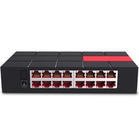 SG116M 16 Ports 10/100/1000Mbps Gigbit Ethnet Network Switch Desktop Design MDI/MDIX 6KV LightningProtect