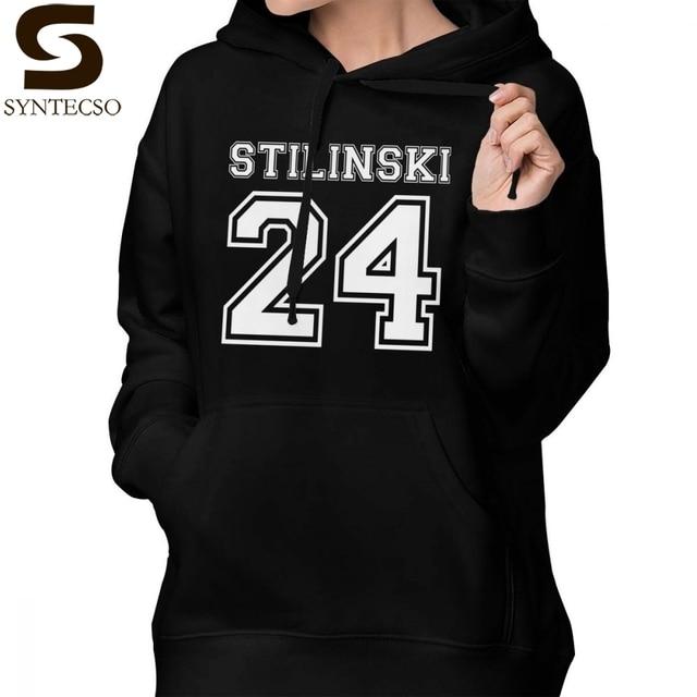 talla 40 dbfb2 eb182 Stilinski 24 Sudadera con capucha sudaderas gris de manga larga mujeres  gran tamaño Streetwear dulce Jersey algodón