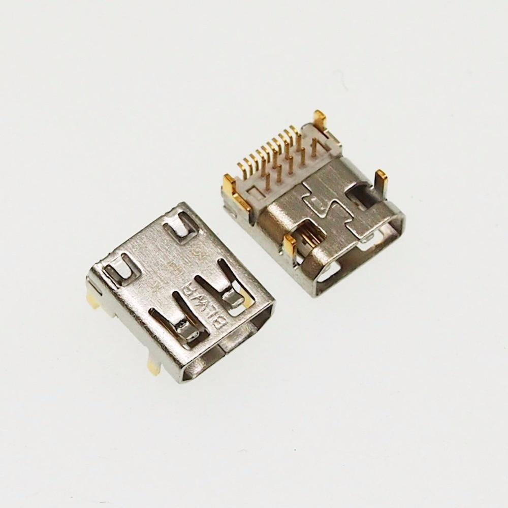10pcs Micro Hdmi Female Socket D Type 19p Hdmi Jack
