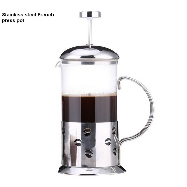 Stainless Steel Gl French Press Pot Cafetiere Coffee Maker