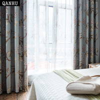 QANHU 2018 удобные Шторы Весна цветок жаккардовые ткани Шторы s для Спальня Гостиная дома лето осень плотные 60% QH-19