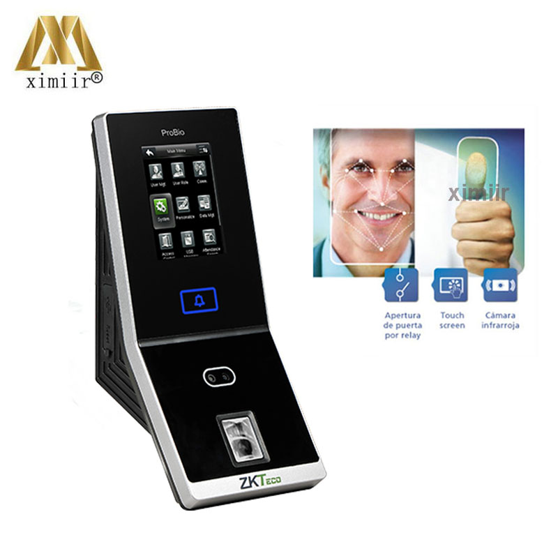 New Arrival TA1200 Multi Biometric Face Access Control And Time Attendance ZK Silk ID Fingerprint Door Access Controller System Facial Recognition Device     - title=