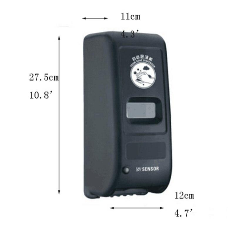 1000 ml Automatische Sensor Badkamer Zeepdispenser Touchless Wandmontage Keuken Wasmiddel Bad Shampoo Dispensers - 5
