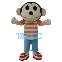 Very Light Monkey Adult Animal Cartoon Character Mascot Costume For Kids Birthday Party