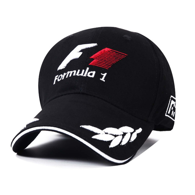 men formula 1 Baseball Caps Black F1 3D Embroidery Hats Motorcycle Racing  MOTO GP Caps Outdoor adjustable Sports Sun Hat gorro 5e7a205cf4e