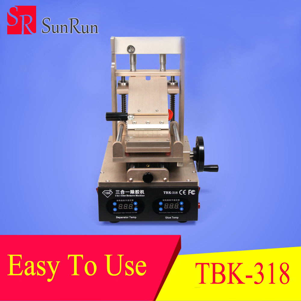 Newest Precise temperature TBK 318 LCD UV Glue Remover LOCA Glue Remove Machine for samsung iphone Screen Separation адаптер matrix 35087