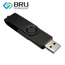 BRU USB3.0 Flash Drive 32GB Hign Speed Pendrive Plastic Swivel Metal Clip OEM Gift Custom Disk Laser Engrave Image Print Logo