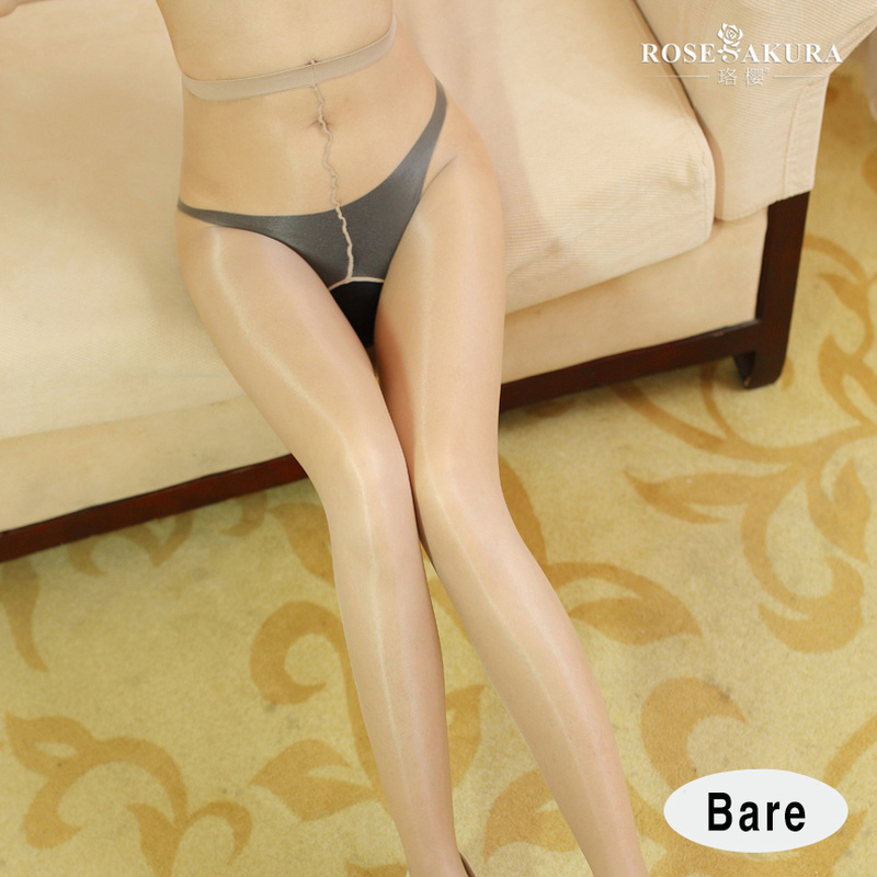 SAROOSY 2018 New Sexy Oil Shiny Open Crotch Pantyhose For Women See Through High Elastic Tights One Line Crotch Detail