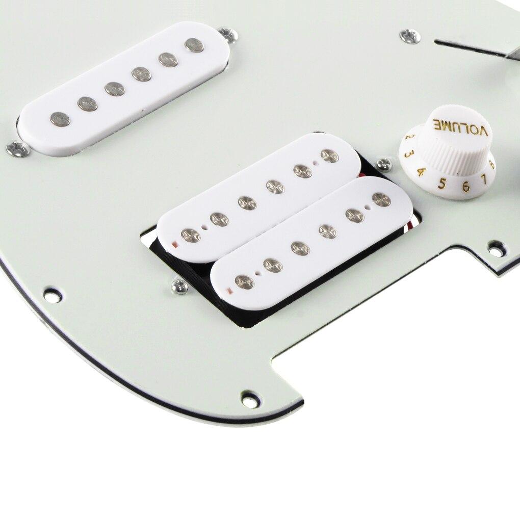 FLEOR SSH Loaded Prewired Strat Electric Guitar Pickguard 11 Holes ...