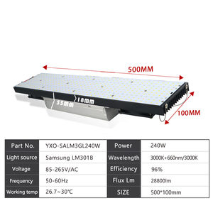 Image 4 - led grow light board LM301B 403Pcs Chip Full spectrum 240w 1000w samsung 3000K,660nm Red Veg/Bloom state Meanwell driver