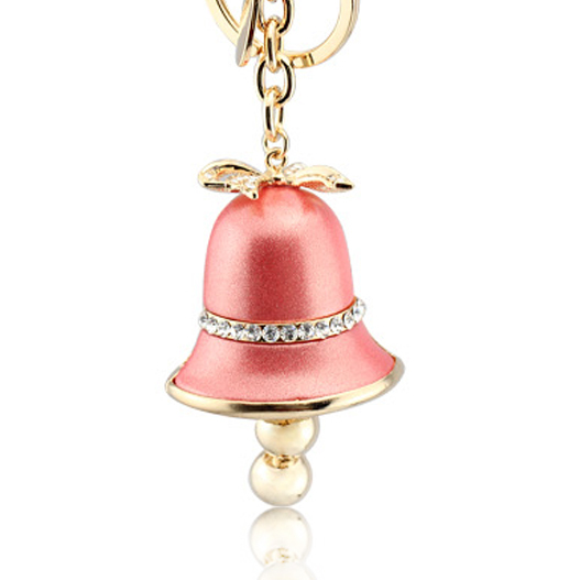 Christmas gifts novelty items fashion jewelry resin Bow key chain bag charm keychain for the keys Bell key chain women