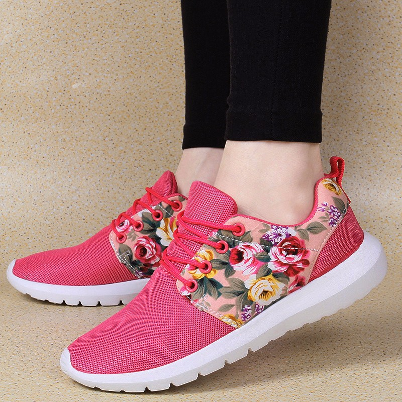 KUYUPP Fashion Breathable Print Flower Women Trainers Casual Shoes 2016 Summer Mesh Low Top Shoes Zapatillas Deportivas YD95 (27)