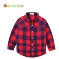 2016 Novo Chegada Meninos Camisa & Blusas Moda Camisa Xadrez de Algodão para Os Meninos 2016 Primavera 2-12 Anos Crianças Camisa Xadrez Roupas Menino