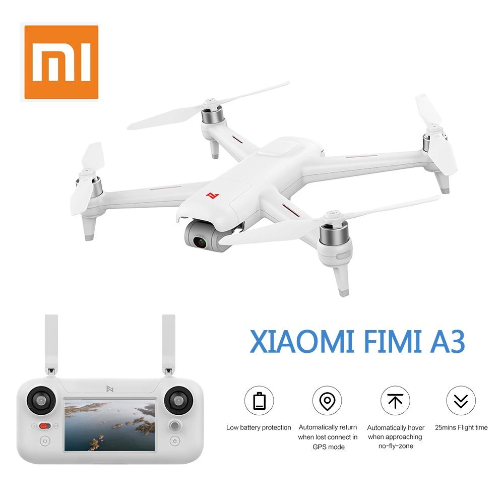 InStock Xiaomi FIMI A3 5.8G GPS Drone 1 KM FPV 25 Minuti Con 2 assi del Giunto Cardanico 1080 P macchina fotografica RC Quadcopter RTF Follow Me
