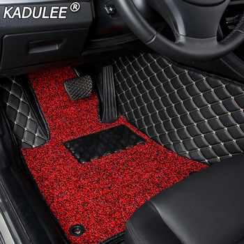 KADULEE car floor Foot mat For honda accord crv cr-v jazz fit city civic CRZ ODYSSEY custom floor mats car accessories styling image