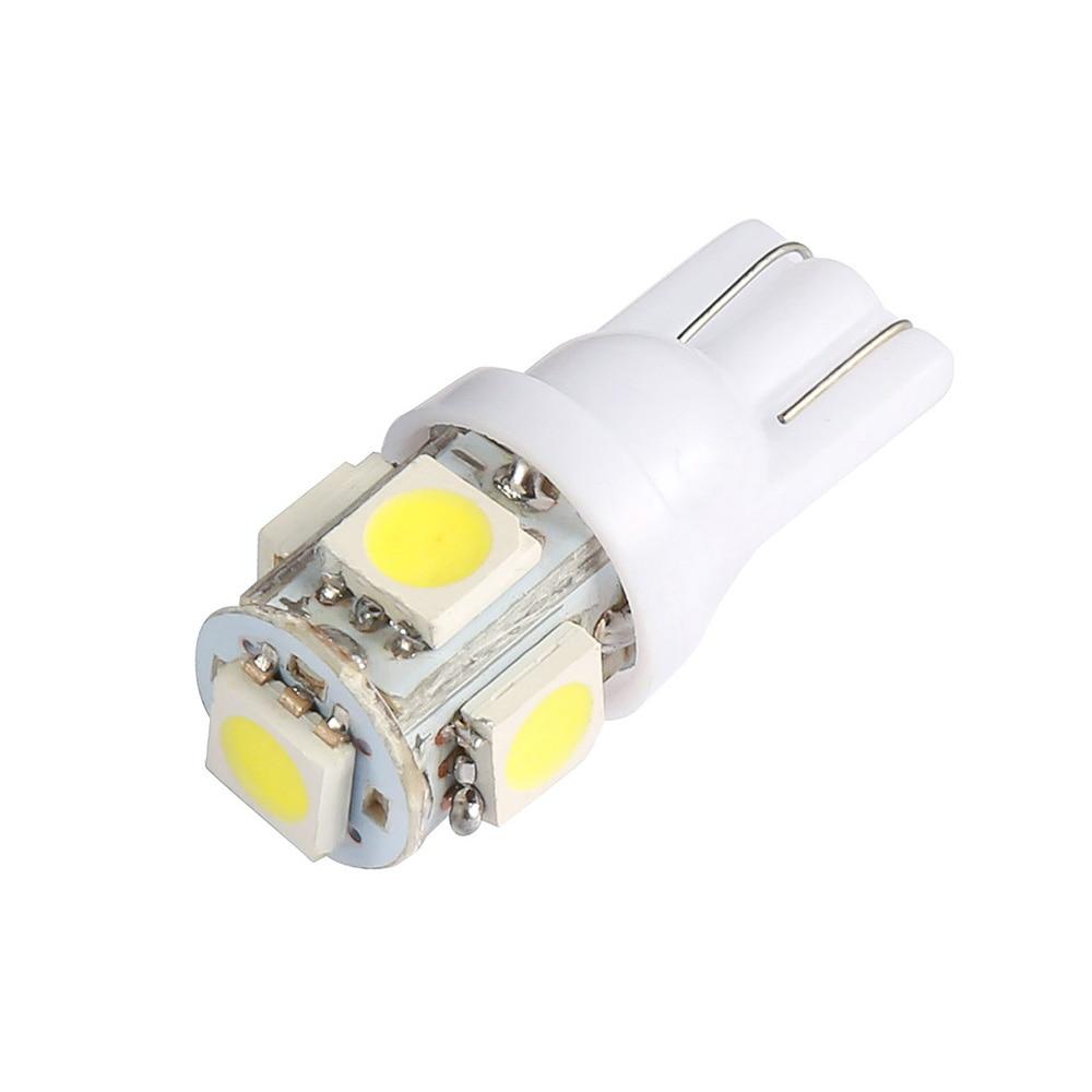 1 Piece T10 W5W Led Car DC 12v Lampada Light 5050 Super White 194 168 W5w T10 Led Parking Bulb Auto Wedge Clearance Lamp