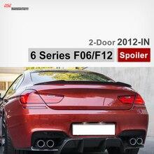 F12 Vorsteiner estilo de fibra de carbono posterior del tronco alerón para BMW 6 Series 640i coupe 2-puerta 650d 640d F13 2012 2013 2014 2015