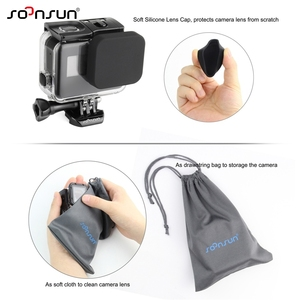 Image 5 - SOONSUN Waterproof Housing Underwater Diving Protective Case w/ Drawstring Bag for GoPro Hero 5 6 7 Black for Go Pro Accessories