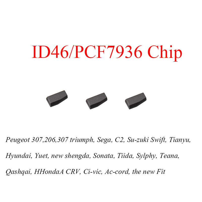 3pcs/lot Car key transponder Blank PCF7936AS PCF7936 id46 tango transponder chip for Honda for nissan for peugeot for citroen free shipping transponder key blank hu43 blade for tpx chip for opel 10piece lot
