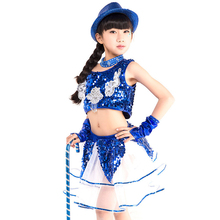 dance costumes rave outfit hiphop jazz costume sequin performance wear girls dress stage