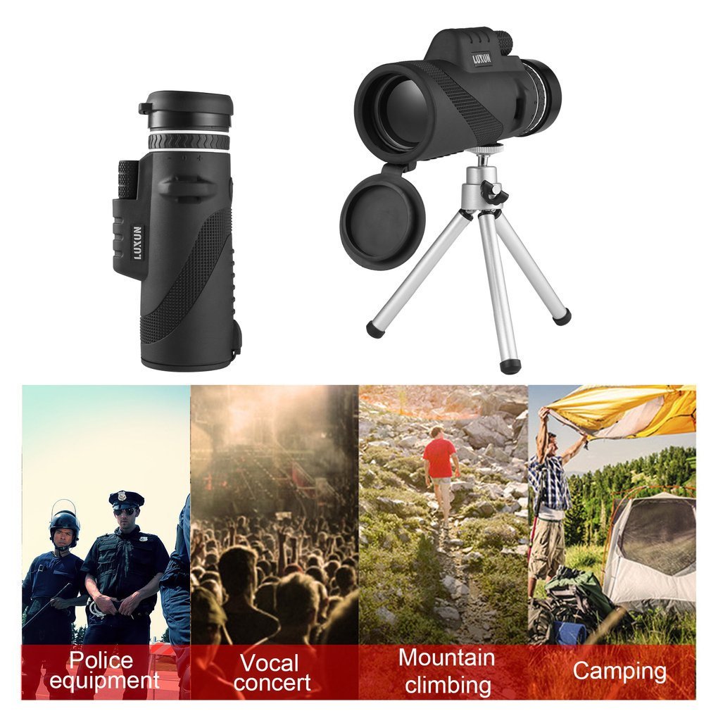 Professional 40x60 Field Glasses Standard Hand Size Ultra Wide Angle Rotary Goggles Hunting HD Powerful Zoom Telescope Handheld