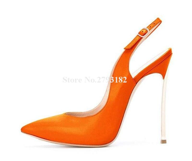 Фирменный дизайн; женские модные туфли лодочки с острым носком на шпильках; туфли лодочки на тонком каблуке с вырезами; цвет розовый, оранже... - 2