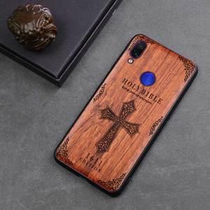 Image 5 - Redmi note 7 capa funda de madeira real, proteção antichoque de tpu para xiaomi redmi note 7 note7 pro concha do telefone