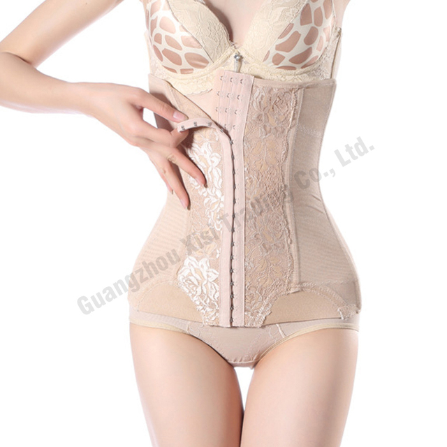 2019 womens steel boning Sexy body shapers tummy trimmer long waist trainer corsets black long waist cincher slimmer Bind belt