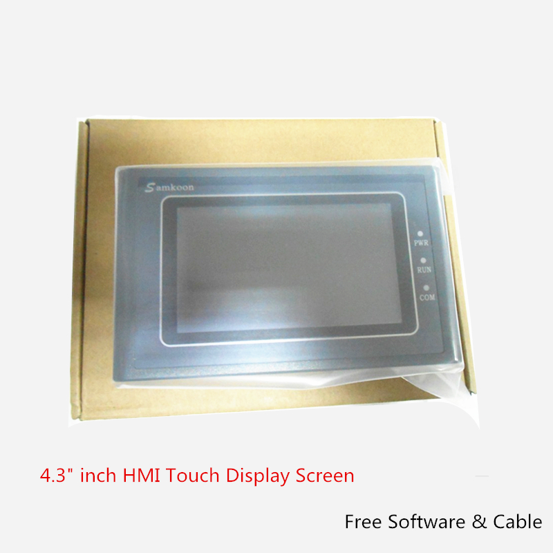 4.3 inch HMI Touch Display Screen Operator Interface Panel 480*272 USB Host 1COM SK-043FE with Free Software & Cable 15 inch touch operator panel display screen hmi 1024 768 ethernet usb host sd card mt8150ie weinview with programing cable