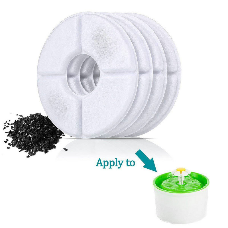 2pcs Activated Carbon Filter For Automatic Cat Dog Fountain Water Feeder Replacement Drinking Machine Filter Core Accessories